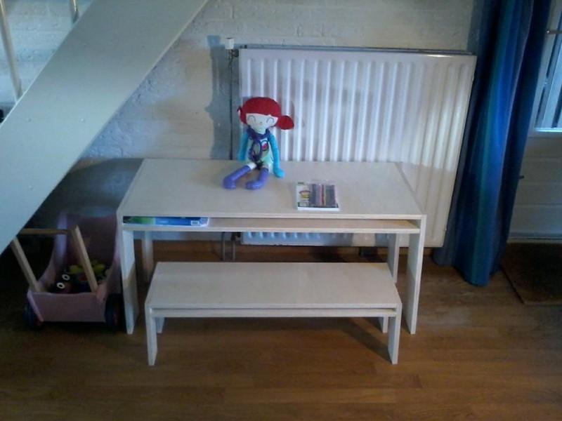 kindertafel Kinderbureau kinderspeeltafel met bankje