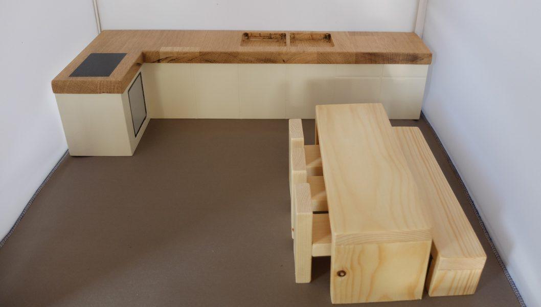 Poppenhuis meubeltjes Keuken en eethoek